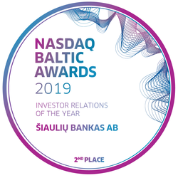 Siauliu bankas (Investor relations of the year)